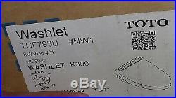 Toto SW3036#01 K300 Washlet Heated, Warm Water Bidet Toilet Seat Fits most White