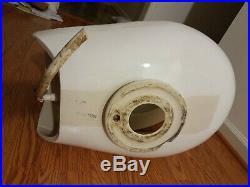 Vacuflush Marine Toilet Dometic Sealand White China Bowl and Plastic Seat