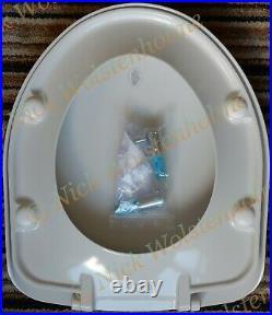 Vernon Tutbury Medina / Natura ORIGINAL Plastic Seat in WHITE with CP hinges TF