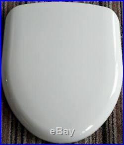 Vernon Tutbury Medina / Natura ORIGINAL Plastic Seat in WHITE with CP hinges to